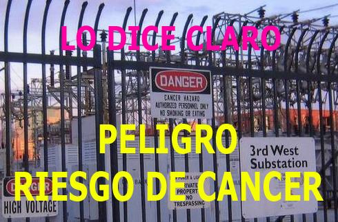 PELIGO, RIESGO DE CANCER
